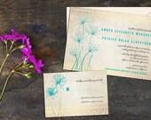 papyrus wedding invitation set simple elegant floral invitations wedding response cards thank you cards save the dates diy digital file - Papyrus Wedding Invitations