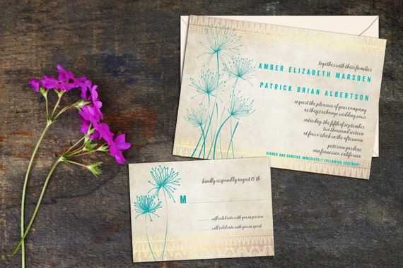 Papyrus Wedding Invitations: Papyrus Wedding Invitation Set Simple Elegant Floral