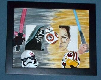 Framed Star Wars Inspired Painting