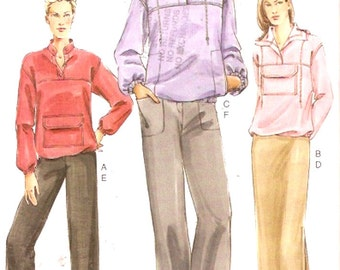 Top Skirt pants Plus size Fashion casual wardrobe Sewing pattern Vogue 7946 Uncut Sz 20 to 24