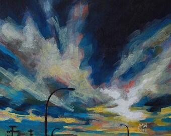 Painting Cloud 9 Landscape Acrylic on Canvas