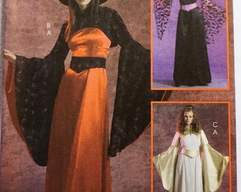 McCalls 5211 - Woman's Fantasy Witch Goddess Renaisssance Costume Pattern 6-8-10-12