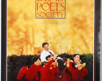 Dead Poets Society, 1980s Movie Poster, English Teacher Art, Original Vintage Poster, Disney Lobby Poster, Robin Williams, School Artwork