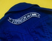 Feminism is Cool Iron-on Embroidered Back Patch