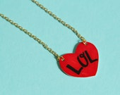 LOL Heart Necklace