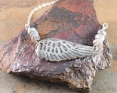 Be Brave Wing Handcrafted Sterling Silver Necklace