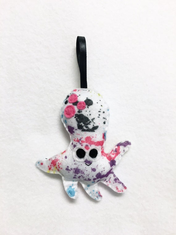 Octopus Ornament, Christmas Ornament, Champ the Octopus, Felt Animal, Ocean, Limited Edition