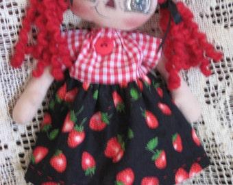 Primitive Raggedy Ann Strawberry Annie