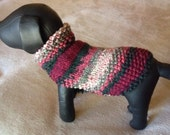 Cranberry Wine Min Pin Dog Sweater.