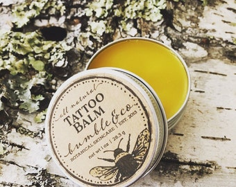 Natural Tattoo Salve | Tattoo Aftercare | Herbal Tattoo Balm | Tattoo Care | Ink Balm | Natural Ink Ointment | Mens All Natural Tattoo Balm