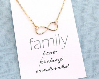 Infinity Necklace | Family Necklace, Family Gift, Gift for Mom, Gifts for Mom, Gift Ideas for Mom, Gift for Moms | Silver, Rose, Gold | FA04