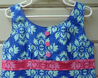 Mod Summer Shift Dress Ready to Ship in Girls Size 5