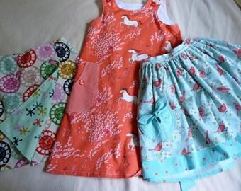 Girls Size 6 to 8 Sample Clothing Bundled Set Ready to Ship Immediately
