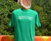 vintage 80s t-shirt GREENCARD film green card movie tee shirt Large XL touchstone immigrant