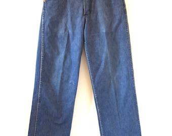 Vintage 60s 70s Wrangler Mid Rise Denim Jeans
