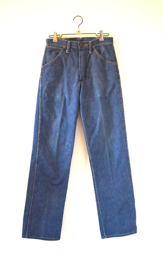 Vintage 60s 70s Wrangler Mid Rise Denim Jeans (size 28)