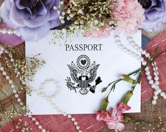 Pretend passport rubber stamps for travel and destination events and projects --5720