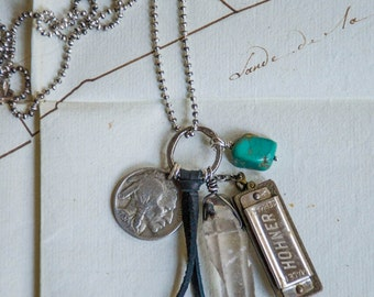 Talisman charm necklace