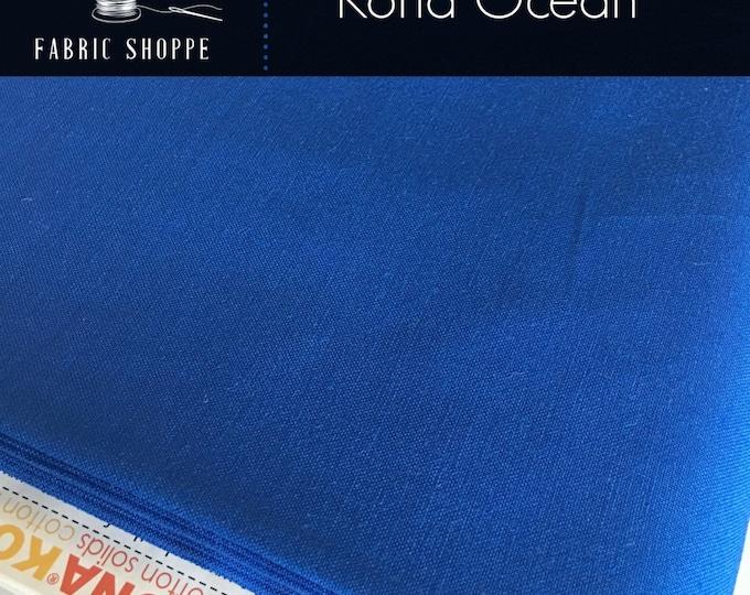 Kona cotton solid quilt fabric, Kona OCEAN 25, Kona fabric, Solid fabric Yardage, Kaufman, Blue fabric, Choose the cut