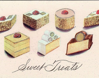 Sweet Treats Postcard by Cavallini to Mail or for Framing, Book Making, Decoupage, Collage, Scrapbooking & Paper Arts