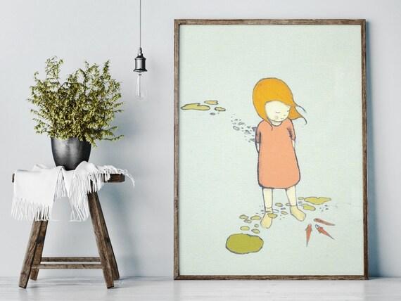 River - Girl Art - Holli - Nursery Wall Art - Nursery Decor - Childrens Art - Kids Wall Art - Nursery Art