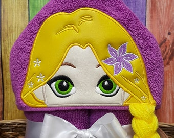 Long Haired Princess Hooded Towel * Pool Party * Beach Towel * Bath Time * Birthday Gift * Party Favor