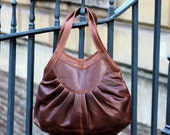 Leather Tote Purse Handbag vintage brown