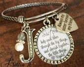 Sister bracelet, SISTER jewelry, Sister gift, Big sister, Sister quote, sister birthday gift, Side by side or miles apart, Bangle bracelet