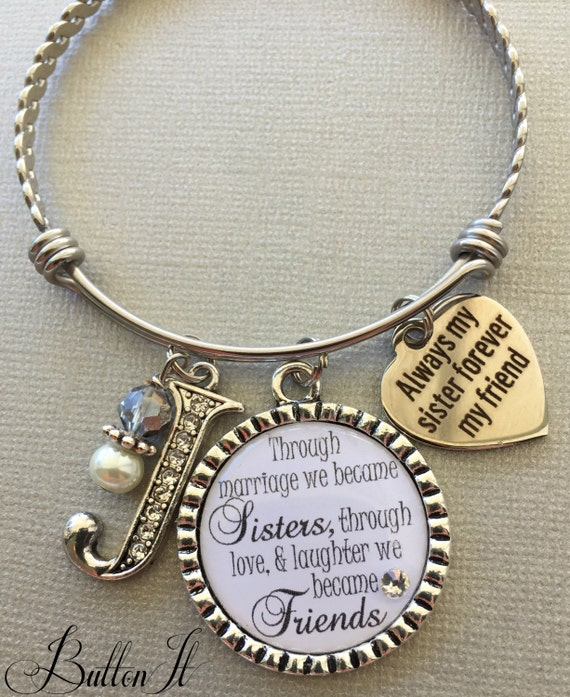 SISTER In Law Gift Big Sister Jewelry Bangle