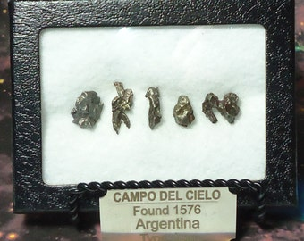 Meteorite ORION Extraterrestrial Meteorite Writing Outer Space Rocks Display Genuine Campo Del Cielo Meteorites Fell 1576 Argentina Set