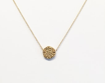Bronze and Gold-fill Small Coral Necklace   Nature Inspired Necklace