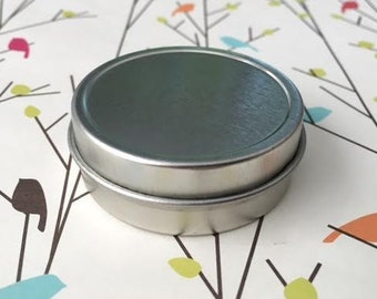 1 Oz Shallow Round Metal Tin Containers Cans for lip balm & craft storage (pack of 24)