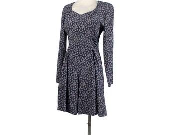 Vintage 90s Romper - 90s Mini Dress - 90s Floral Romper - Grunge - Blue Pink Green - Blue Romper - Ditsy Print - 90s Rayon Mini Dress