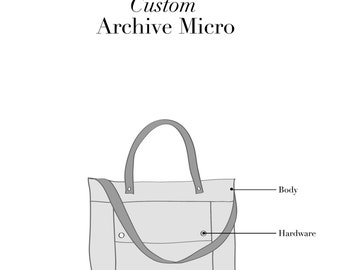 Custom Leather Archive Micro, Crossbody Tote, Tote Mini, Crossbody Satchel, Small Crossbody, Mini Bag, Micro Tote, Satchel, Made to Order