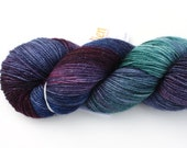Dream Weaver--hand dyed sock weight yarn, merino, nylon and stellina, (438yds/100gr)