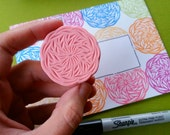 Crochet Circle - Hand Carved Rubber Stamp