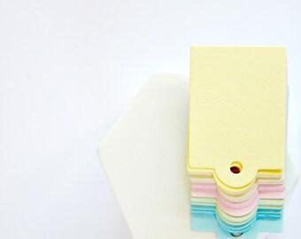 Retro Gift Tags {50} Pastel Gelati Blank Labels Retro DIY Wedding Engagement Party Goody Bags Events Merchandising