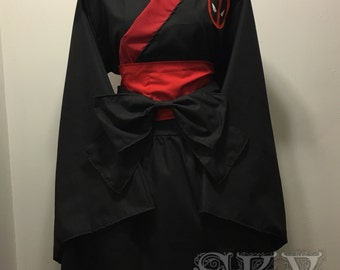 Deadpool Kimono Dress Set
