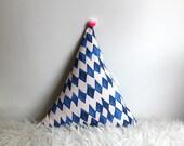 Triangle Pompon cushion