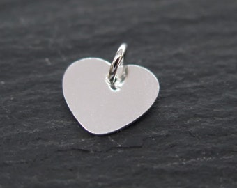 Sterling Silver Heart Charm (Thin) 9mm (CG8105)