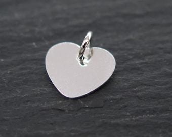 Sterling Silver Heart Charm (Thin) 9mm (CG8105)