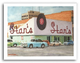 "Shreveport ""Stan the Record Man"" Prints Signed and Numbered"