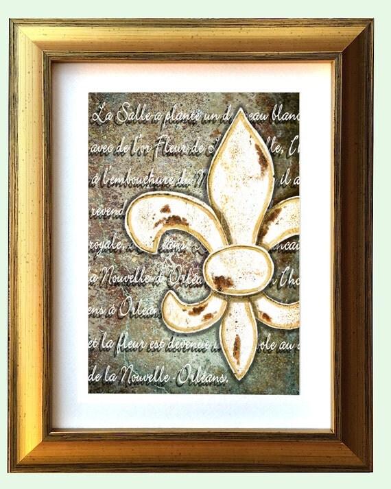 Fleur De Lis Gold Framed Art Fleur De Lis Orl Ans