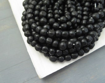black bone beads , round- ish nugget small natural spacer, freeform ethnic boho bohemian tribal exotic supplies   /  30 beads  -  5bb
