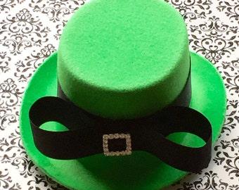 St.Patricks Day Hats, Shamrock Hats  Irish Hats, St. Patty's Day, Green Mini Top Hat, Leprechaun Hat ,Green Mini Top Hat, Costume