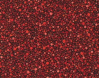 Circles Dots Red Texture Spectrum Robert Kaufman Fabric 1 yard