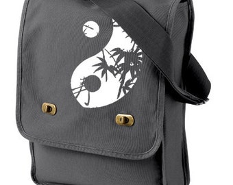 Zen Messenger bag Yin Yang yoga bag Crossbody school bag Zen bookbag College bag - back to school
