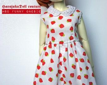 Harajukudoll msd unoa minifee size funny onesie strawberry
