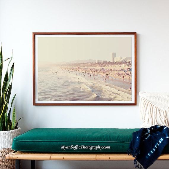Framed Artwork Sunny California Print Framed Beach
