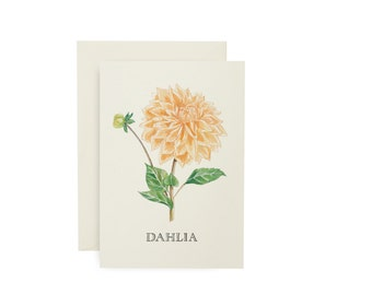 SALE Dahlia Flower Card
